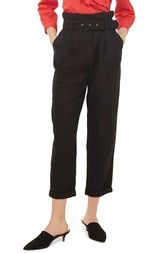 Topshop Mensy Belted Trousers available at #Nordstrom