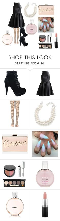 """Harper"" by afia-asamoah on Polyvore featuring Leg Avenue, Carolee, BCBGMAXAZRIA, Bobbi Brown Cosmetics, Chanel, MAC Cosmetics, classic, girly, feminine and cocktail"