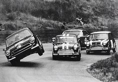 Mini Cooper , 60's Saloon car racing at its best!!