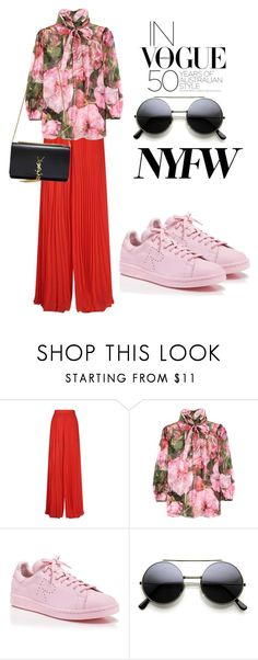 """NYWF"" by omahtawon ❤ liked on Polyvore featuring Elie Saab, Dolce&Gabbana, adidas and Yves Saint Laurent"