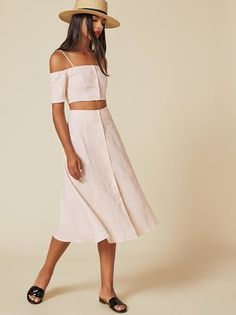 The Ava Two Piece  https://www.thereformation.com/products/ava-two-piece-rose-white?utm_source=pinterest&utm_medium=organic&utm_campaign=PinterestOwnedPins