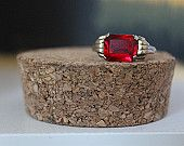 Vintage gold ring with ruby gemstone http://www.etsy.com/shop/GoldandGarbage
