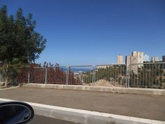 Rupin Road overlooking Yiraelia houses [right] , Haifa BAY [middle]  photo mirjam Bruck -Cohen