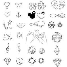 Pixel - Tattoo ideen - Tattoo World Bff Tattoos, Mini Tattoos, Kritzelei Tattoo, Sharpie Tattoos, Doodle Tattoo, Little Tattoos, Friend Tattoos, Future Tattoos, Finger Tattoos