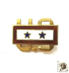 US Military Service Pin World War II, Indicates 2 Sons in Service