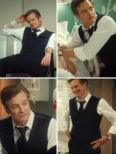 Colin Firth as Mark Darcy (There's something about a man in a suit vest...)