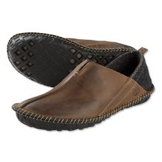 Just found this Indoor-Outdoor Leather Slippers for Men - Indoor-Outdoor Slippers -- Orvis on Orvis.com!