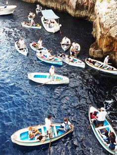 capri, italy // europe // ocean // beach // water // boating // people // exotic travel destinations // dream vacations // places to go