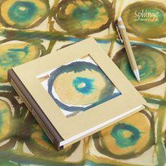 Cuaderno artesanal con portada en seda pintada a mano