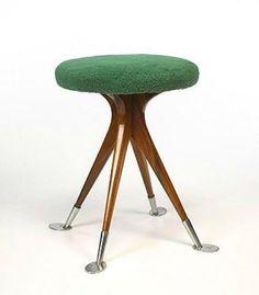 Stool for sale at Wright Furniture Styles, Unique Furniture, Furniture Design, Mid Century Decor, Mid Century Design, Coffee Table To Dining Table, Stools For Sale, Ottoman, Sustainable Furniture