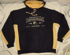Panthers University of Pittsburgh Pitt Sweatshirt Hoodie Blue size L, XL Adult #ScholasticGear #PittPanthers