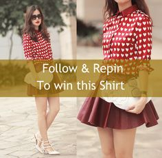 Follow me @ROMWE & repin this post, you will get the entry to win this popular shirt!  Ends on next Monday! Hurry!!
