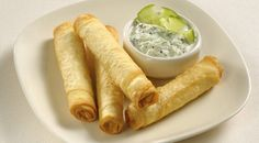Crisp little cigars of feta-filled filo pastry make a great snack or starter in this hassle free recipe from Janet Brinkworth Appetizer Recipes, Snack Recipes, Cooking Recipes, Appetizers, Borek Recipe, Ramadan Recipes, Lebanese Recipes, Food Obsession, Middle Eastern Recipes