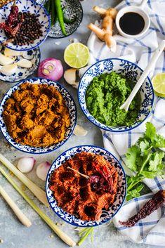Thai Curry Recipes, Vegetarian Recipes, Cooking Recipes, Healthy Recipes, Curry Wurst Recipe, Healthy Breakfasts, Healthy Snacks, Thai Paste Recipe, Thai Spice Recipe