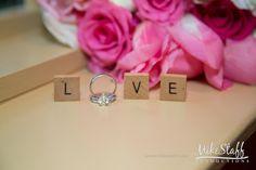 Diamond wedding rings spell out LOVE #Michiganwedding #Chicagowedding…
