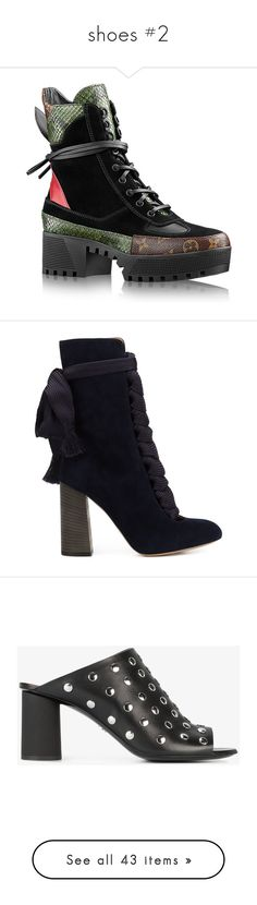 """""""shoes #2"""" by millicent4 ❤ liked on Polyvore featuring shoes, boots, ankle booties, ankle boot, blue, leather lace up boots, ankle high boots, suede booties, ankle boots and blue ankle boots"""