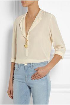 Stella McCartney Eve silk crepe de chine blouse