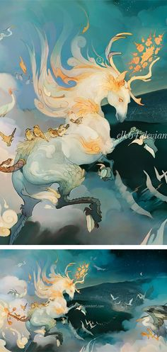 "Qilin, or ""Kirin"" in Japanese, are the eastern version of a unicorn and serve similar roles in their lore. 