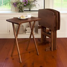 Manchester Wood modern TV Tray Tables | Made in USA