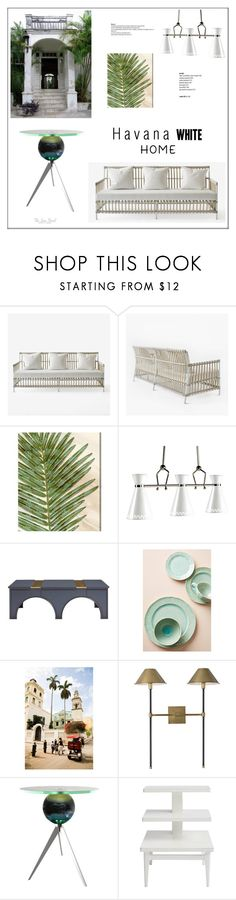 """""""Havana White Home"""" by theseapearl ❤ liked on Polyvore featuring interior, interiors, interior design, home, home decor, interior decorating, Oliver Gal Artist Co., Jonathan Adler, Anthropologie and Van Teal"""