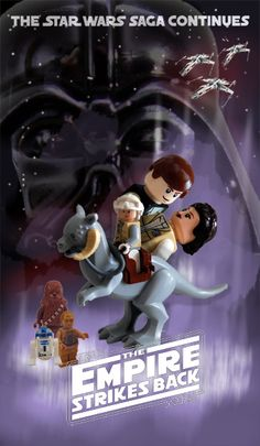 Lego Movie Poster: Star Wars The Empire Strikes Back