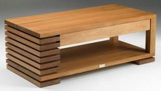 Coffee Table with Drawer Rimu Centre Table Design, Tea Table Design, Wood Table Design, Coffee Table With Stools, Coffee Table With Drawers, Modern Coffee Tables, Centre Table Living Room, Center Table, Solid Wood Furniture