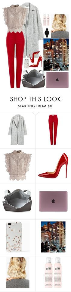 """""""""""The boss"""" """" by youngsmile ❤ liked on Polyvore featuring H&M, Loewe, Chicwish, Christian Louboutin, Kate Spade, WithChic and CLUSE"""