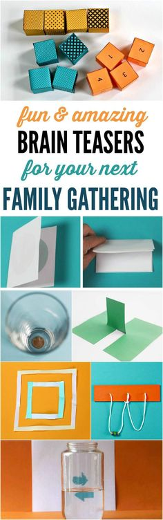 Brain teasers and party tricks for family gatherings. Kids will love to stump the grown-ups.