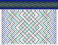 #51217 - friendship-bracelets.net  Micromacrame Bracelet w/Pattern