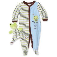 Vitamins Baby-boys Newborn Frog Sleep and Play with Blankie Buddy $24.00