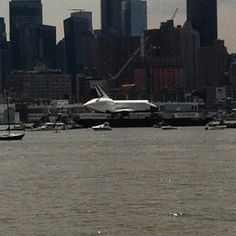 Space Shuttle Enterprise Traveling up the Hudson right by NY Waterway! #intrepid