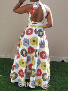 Ericdress Print Floor-Length Sleeveless Standard-Waist Pullover Dress Source by fashion dresses Latest African Fashion Dresses, African Dresses For Women, African Print Dresses, African Print Fashion, Africa Fashion, African Attire, African Inspired Fashion, Ankara Fashion, African Men