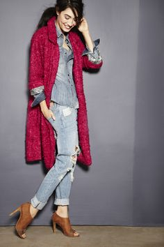 lovely fuschia coat