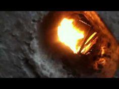 Rocket mass oil drip heater - YouTube