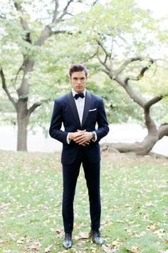 Groom in a tuxedo - From the book GROOMS by Donnell Baldwin and Courtney Arrington-Baldwin // photography by Alea Lovely