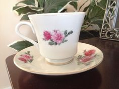 Vintage Xiang Shan (Elephant Hill Brand) Tea Cup and Saucer, No Cracks.