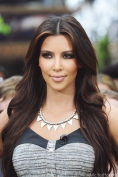 Beautiful hair and makeup.