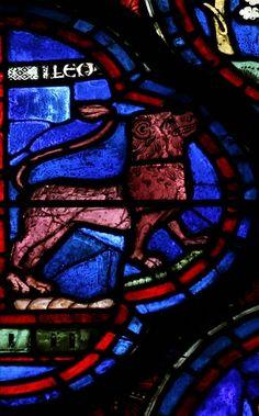 Chartres Zodiac Window (c.1220): Leo
