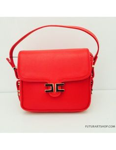 Elisabetta Franchi borsa tracolla rossa
