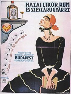 See more vintage Hungarian advertising posters at Neolog. Vintage Labels, Vintage Ads, Vintage Posters, Budapest, Dj Yoda, Vintage Graphic Design, Advertising Poster, Illustrations And Posters, Vintage Advertisements