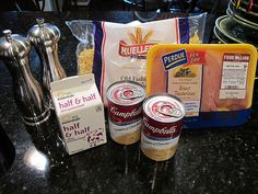 Creamy chicken noodle soup ingredients