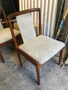 Rosewood chairs t o reupholster Mid Century Dining Chairs, Furniture, Home Decor, Interior Design, Home Interior Design, Arredamento, Home Decoration, Decoration Home, Interior Decorating