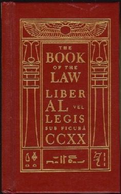 Aleister Crowley – The Book Of The Law #thelema, #Books, #occult, #word