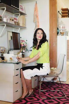 Style At Home: Amanda Dawbarn Of 100 Layer Cake | theglitterguide.com