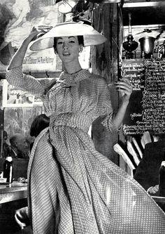 Ruth Neuman-Derujinsky, photo by Gleb Derujinsky, Harper's Bazaar, 1957