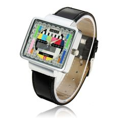Paidu Rectangle Case PU Leather Band Casual Wrist Watch