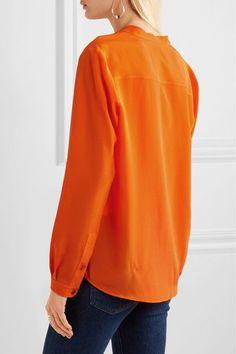 Stella McCartney - Eva Silk Crepe De Chine Blouse - Bright orange - IT48