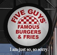 "Blog Post -Rants from Mommyland- ""Why Lydia Can Never Go Back to Five Guys"".  I laughed until I had tears streaming down my face and snot running out of my nose. This is by far one of the funniest real life moments I have ever read."