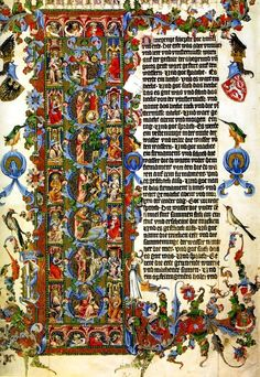 Initial Letter Genesis Illuminated  The Wenceslas Bible c. 1389 by Tuatha
