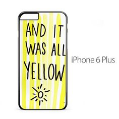 Coldplay Yellow Iphone  Plus Case